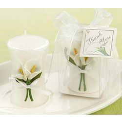 Calla Lily Elegance Vase Shaped Candles