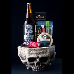 Daddy Loves Death Metal Beer and Snacks Gift Basket