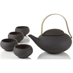 Pebble Teapot and Teacups Set