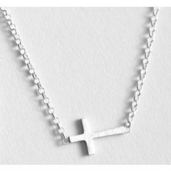 Silver Faith Cross Necklace