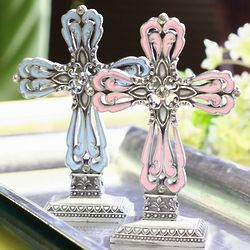 Pewter Color Cross Party Decoration