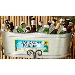 It's 5 O'Clock Personalized Paradise Beverage Tub