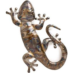 Handcrafted Recycled Metal Gecko Wall Art