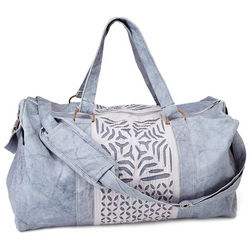 Reverse Applique Stonewashed Duffle Bag