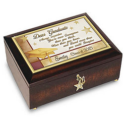 Personalized Heirloom Music Box for Graduates