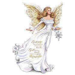 My Strength, My Guide Angel with Glass Star Figurine