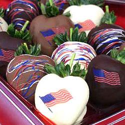 Patriotic Chocolate Covered Strawberry Gift Box