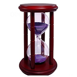 Hourglass 15 Minute Sand Timer in Cherry