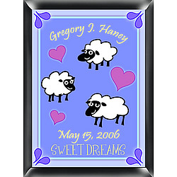 Personalized Boy's Counting Sheep Room Sign