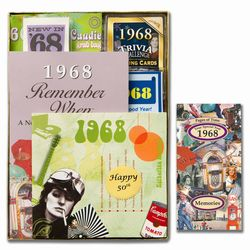 Personalized 50th Anniversary Time Capsule Box for 1968