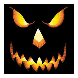Halloween Scary Jack O' Lantern Face Cotton T-Shirt