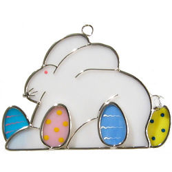 Easter Bunny with Eggs Suncatcher