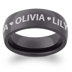 Black Stainless Steel Personalized Band