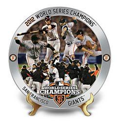 MLB San Francisco Giants 2012 World Series Collector Plate