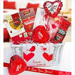 Love Song Valentine's Day Chocolate Basket