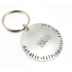 Dad's Personalized Hand Stamped Keychain