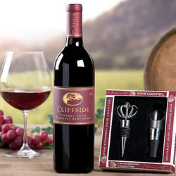 Cliffside Vineyards Cabernet Wine Gift Set
