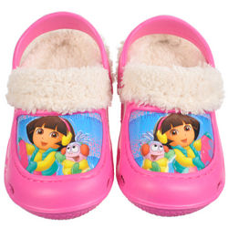 Dora the Explorer Sledding Adventure Lined Clogs