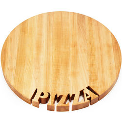 Pizza Cut-Out Wood Serving Board