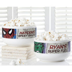 Marvel Superhero Personalized Bowl