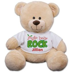 Personalized Jingle Bear Rock Teddy Bear