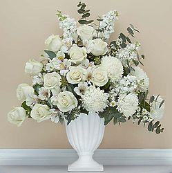 On Angel's Wings White Floral Arrangement