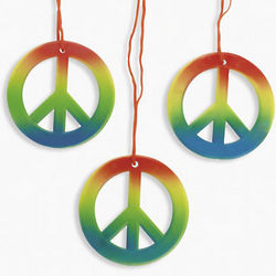 Rainbow Peace Sign Necklaces