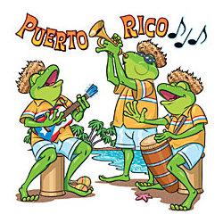 Puerto Rico Frog Band T-Shirt