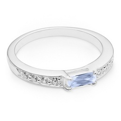 Sterling Birthstone Ring with Keepsake Box