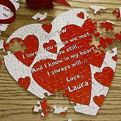 """Personalized """"I Love You"""" Message Heart Shaped Puzzle"""