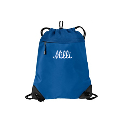 Personalized Microfiber Cinch Pack with Mesh Trim