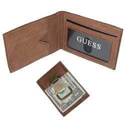 guess bottle opener money clip front pocket leather wallet. Black Bedroom Furniture Sets. Home Design Ideas