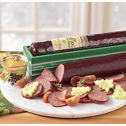 One Pound Beef Log® Lite and 2-oz. Mustard