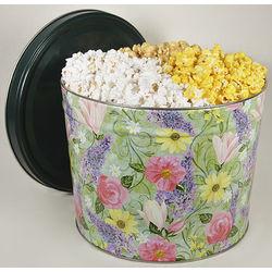 Flower Garden Popcorn Tin