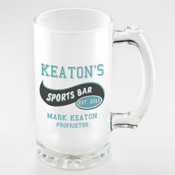 Personalized Sports Bar Frosted Sports Mug
