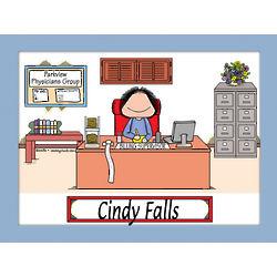 Personalized Businesswoman Cartoon Print