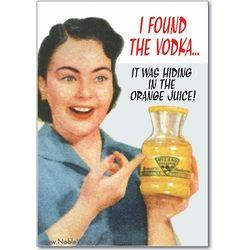 I Found the Vodka Birthday Card