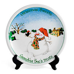 Personalized Christmas Sweet Treats for Santa Plate