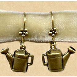 Antiqued Replica Brass Gardener's Earrings