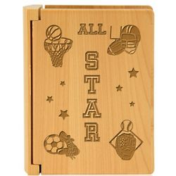 All-Star Sports Wooden Photo Album