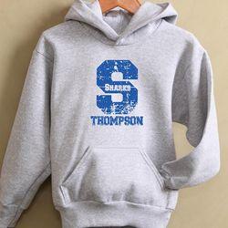 Personalized Grey Go Team Athletic Sweatshirt