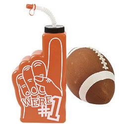 Orange #1 Finger Shaped Bottle
