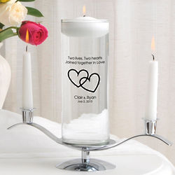 Tender Hearts Floating Unity Candle and Stand