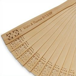 Personalized Sandalwood Fan Favor