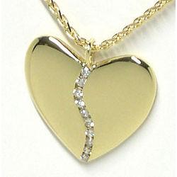Large 10 Diamond Harmony Heart Pendant in 18K Gold