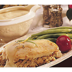 Stuffed Chicken Breast and Gravy