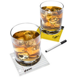 Coaster Pad Writable Drink Coasters