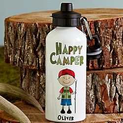 Personalized Happy Camper's Water Bottle