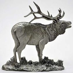 Pewter Elk Figurine