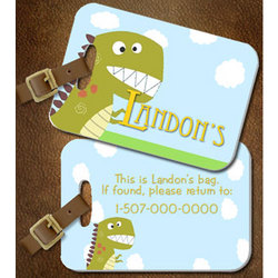 Personalized Dinosaur Luggage/ Diaper Bag Tag